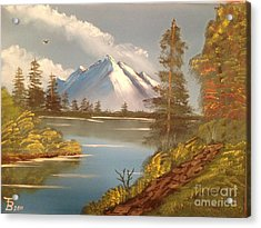 Majestic Mountain Lake Acrylic Print by Tim Blankenship