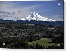 Majestic Mt Hood Acrylic Print by Jim Walls PhotoArtist