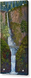 Majestic Multnomah Acrylic Print by Ron Smothers