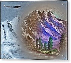 Majestic Mystic Mountains Number Five Acrylic Print