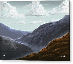 Acrylic Print featuring the digital art Majestic Outcrops by Barry Jones