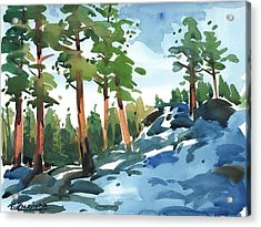 Majestic Pines In The Snow Acrylic Print