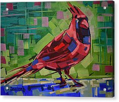 Majestic Red Bird Acrylic Print