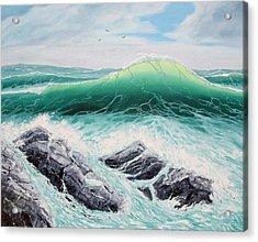 Majestic Sea Acrylic Print by Lorraine Foster