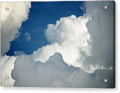 Majestic Storm Clouds With Moon Acrylic Print