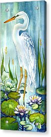 Majestic White Heron Acrylic Print