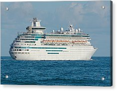 Acrylic Print featuring the photograph Majesty Of The Seas Cruise Ship by Bradford Martin
