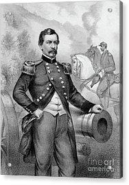 Major General George B Mcclellan Acrylic Print by American School