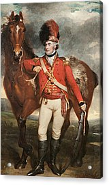 Major O'shea Of The Loyal Cork Legion Acrylic Print by Martin Archer Shee