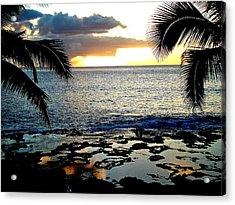Makaha Sunset Acrylic Print by Erika Swartzkopf