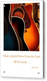Make A Joyful Noise Acrylic Print by Linda Merkel