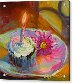Acrylic Print featuring the painting Make A Wish by Chris Brandley