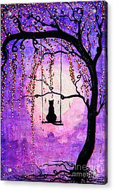Acrylic Print featuring the mixed media Make A Wish by Natalie Briney