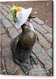Make Way For Ducklings Acrylic Print by Edward Fielding