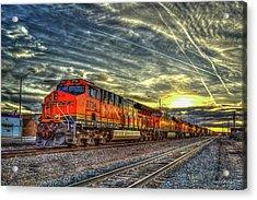 Make Way Resting B N S F Train Gallup New Mexico Art Acrylic Print
