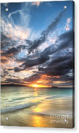 Makena Beach Maui Hawaii Sunset Acrylic Print by Dustin K Ryan