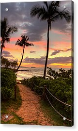 Makena Sunset Path Acrylic Print