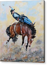 Making 8 Seconds Acrylic Print by Leonie Bell