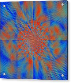 Making Art To Free Colors Acrylic Print by Fania Simon