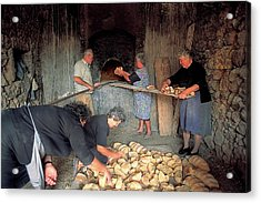 Making Bread In The Old Wood Oven Acrylic Print