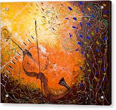 Acrylic Print featuring the painting Making Melody by Piety Dsilva