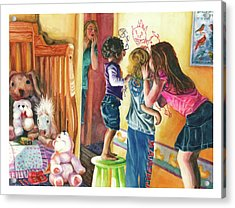 Making Mischief Acrylic Print by Maureen Dean
