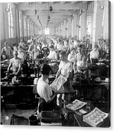 Making Money At The Bureau Of Printing And Engraving - Washington Dc - C 1916 Acrylic Print by International  Images