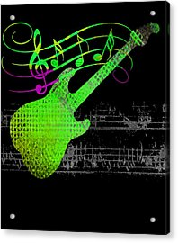 Acrylic Print featuring the digital art Making Music by Guitar Wacky