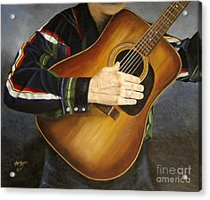 Making Music Acrylic Print by Mary Rogers