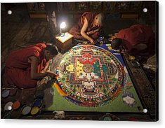 Making Of Mandala Acrylic Print