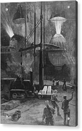 Making Steel With Bessemer Converters Acrylic Print by Everett