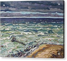 Making Waves In Oil Acrylic Print by Phil Chadwick