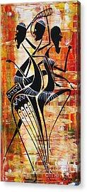 Makonde And Mask 5 Acrylic Print by Abu Artist