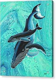 Acrylic Print featuring the painting Makuwahine Aloha by Darice Machel McGuire
