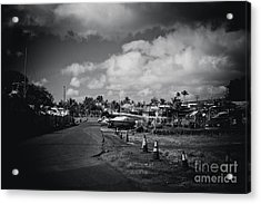 Acrylic Print featuring the photograph Mala Wharf Ala Moana Street Lahaina Maui Hawaii by Sharon Mau