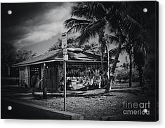 Acrylic Print featuring the photograph Mala Wharf Showers Lahaina Maui Hawaii by Sharon Mau