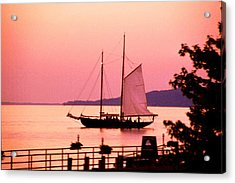 Malabar X Sailboat At Sunset Acrylic Print by Roger Soule