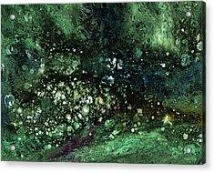Malachite- Abstract Art By Linda Woods Acrylic Print