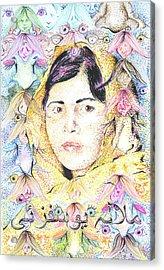 Malala-don't Ignore Us-sombra De Arreguin Acrylic Print