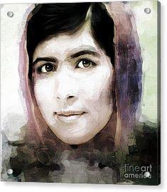 Malala Yousaf Zai 10 Acrylic Print