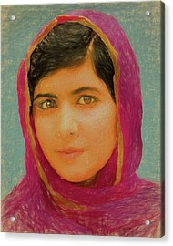 Malala Yousafzai Acrylic Print by Dan Sproul