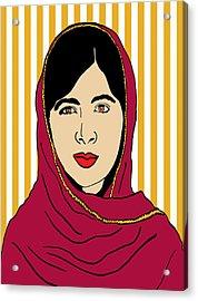 Malala Yousafzai Acrylic Print by Nicole Wilson