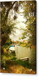 Acrylic Print featuring the photograph Malamocco Canal No1 by Anne Kotan