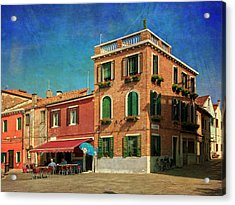 Acrylic Print featuring the photograph Malamocco Corner No3 by Anne Kotan