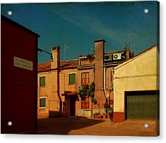 Acrylic Print featuring the photograph Malamocco House No2 by Anne Kotan