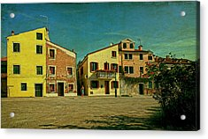 Acrylic Print featuring the photograph Malamocco Main Street No1 by Anne Kotan