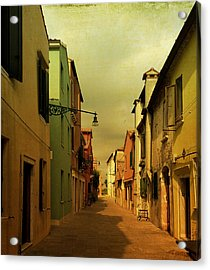 Malamocco Perspective No1 Acrylic Print by Anne Kotan