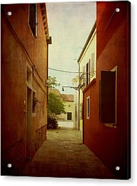 Acrylic Print featuring the photograph Malamocco Perspective No2 by Anne Kotan