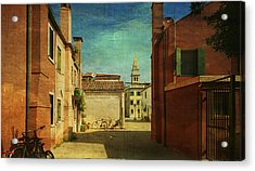 Malamocco Perspective No3 Acrylic Print by Anne Kotan