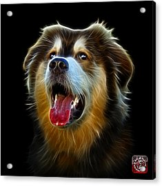 Acrylic Print featuring the painting Malamute Dog Art - 6536 - Bb by James Ahn